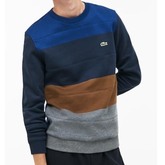 feddbd637edb2 NWT Men s Crew Neck Colorblock Fleece Sweatshirt